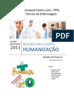 Trabalho Programa Nacional Humanização Hospitalar