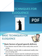 Basic Techniques for Eloquence 2