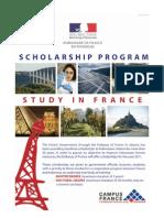 Scholarship Program to Study in France 2011