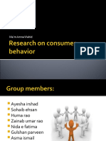 Research on Consumer Behavior