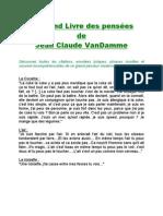 TousVosLivres - Le Grand Livre Des Pensees JC VanDamme