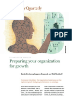 Preparing Organization for Growth - McKinsey