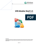 SPB Mobile Shell User Manual Symbian