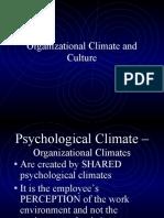 Organizational Climate & Culture