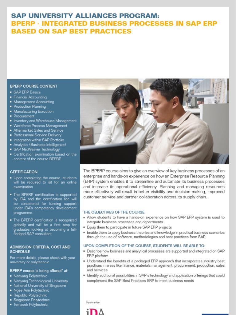 BPERP Certification Brochure | Sap Se | Enterprise Resource