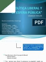LA POLÍTICA LIBERAL Y LA ESFERA PÚBLICA
