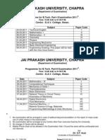 JPV New Exam Schedules 2011