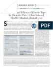 The Clinical Efficacy of Kinesio Tape