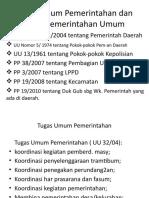 Tugas Umum Pemerintahan Dan Tugas Pemerintahan Umum