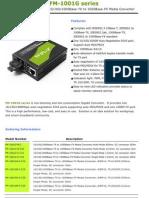 MediaConverter(FM-1001G Series) DataSheet Ver 1.1