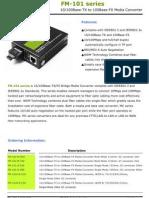 MediaConverter(FM-101 Series) Datasheet Ver 1.1