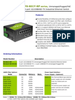 IndustrialEthernetSwitch(FS-801Y-RP Series) Datasheet Ver 1.1