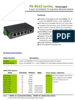 IndustrialEthernetSwitch(FS-501Z Series) Datasheet Ver 1.1