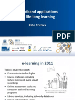 Kate Cornick, IBES, Broadband Applications for Life-long Learning