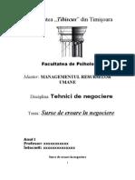 Tehnici de Negociere Model de Proiect