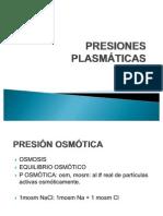 PRESIONES PLASMATICAS