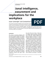 25234483 Emotional Intelligence Its Measurement and Implications for the Workplace