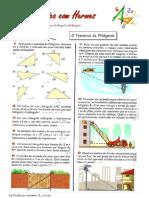 Exercícios do teorema de Pitágoras