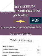 The Fresh Fields Guide to International Arbitration and ADR
