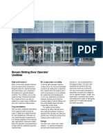 Besam Unislide Operator Brochure