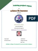 Reliance life Insurence  projected by sudhakar chourasiya Maihar