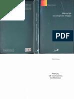 Manual de Sociologia da Religião. Roberto Cipriani
