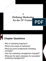 Chapter 1 - Defining Marketing for the 21st Century