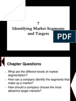 Chapter 7 - Identifying Market Segments and Targets