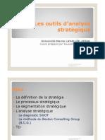 Les outils d'analyse stratégique [Mode de compatibilité]