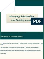 Managing Relationships & Building Loyalty