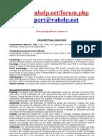 MGT-502 Organizational Behavior (Lecture 01-15)2nd Semester