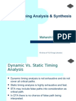 Static Timing Analysis -Maharshi