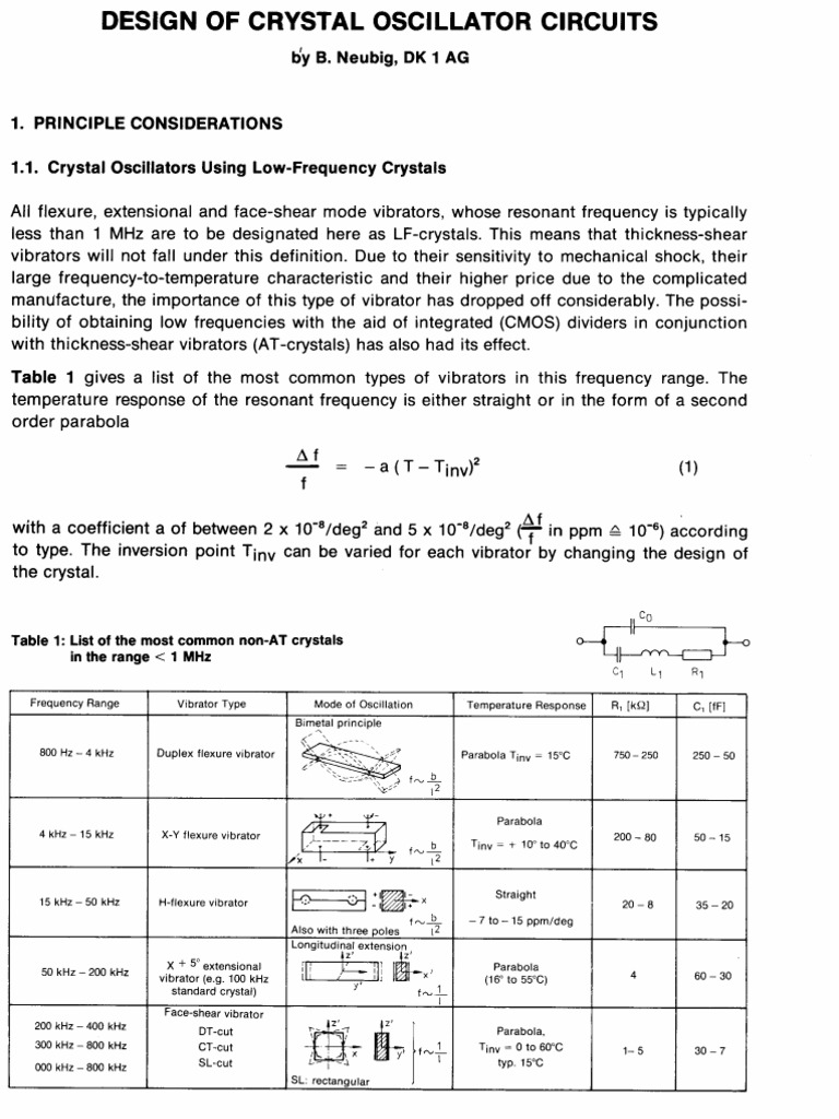 Crystal Oscillator Circuit Jfet Pierce Schematic Diagram