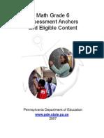 Assessment Anchors Math Grade 6