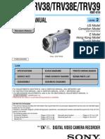 Sony Dcr-trv38, Trv38e, Trv39 Service Manual Level 2 Ver 1.2 2003.11 (9-876-230-33)