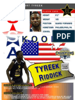 Tyreek.Riddick.Skoolz.USA.Select.Player.Card.Live.The.Dream.Fdn