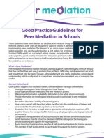 Good Practice Guidelines for Mediation in Schools