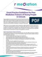 Good Practice Guidelines for Mediation Trainers of Young People in Schools