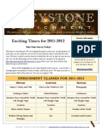 Greystone Enrichment Welcome Letter