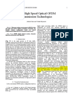 Ultra-High Speed Optical OFDM Transmission Technologies