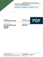 KUMAR STRATEGIC CONSULTANTS LTD  | Company accounts from Level Business