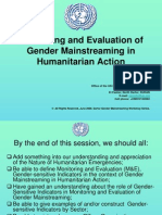 Monitoring and Evaluation of Gender Mainstreaming in rain Action