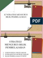 k 7 Strategi Mengurus Bilik Pembelajaran