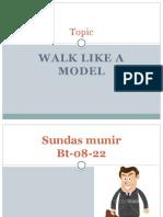 Walking Like a Model