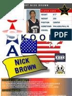 Nick.Brown.Skoolz.USA .Select.Player.Card.Live. The.Dream.Fdn