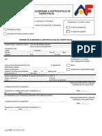 Cerere Tip de Eliberare Certificat Cazier Fiscal