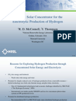 A Hybrid Solar or for the Electrolytic Production of Hydrogen