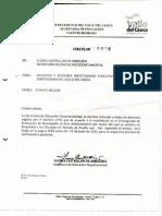 Circular Sec. Educ. Deptal Sobre Nombramiento de Docentes 1278
