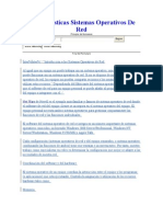 Caracteristicas Sistemas Operativos de Red