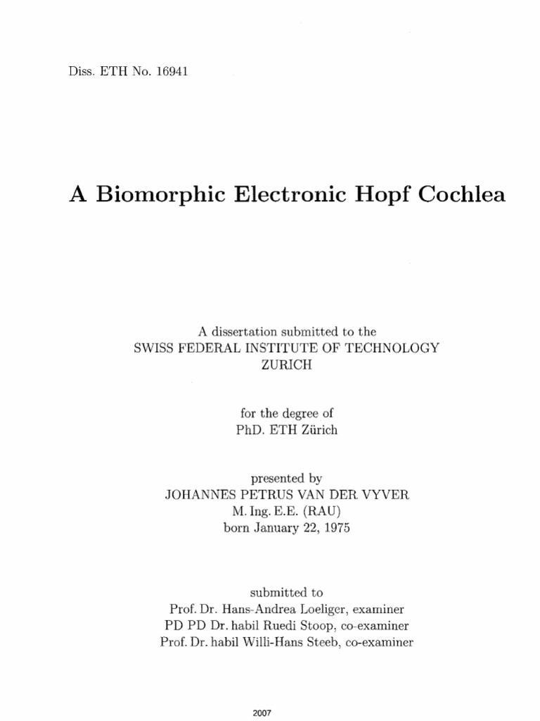 Eth phd thesis